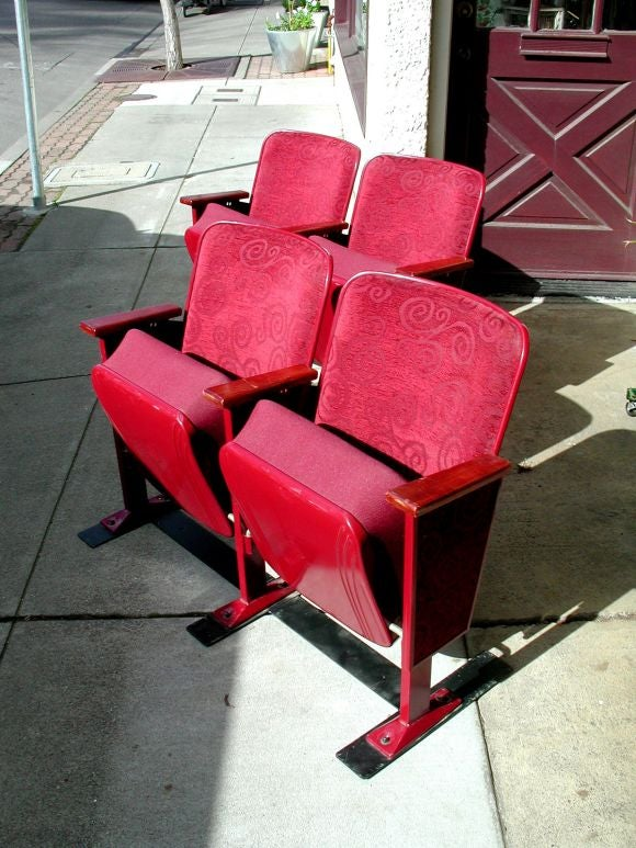 Vintage Heywood Wakefield Theater Seats At 1stdibs