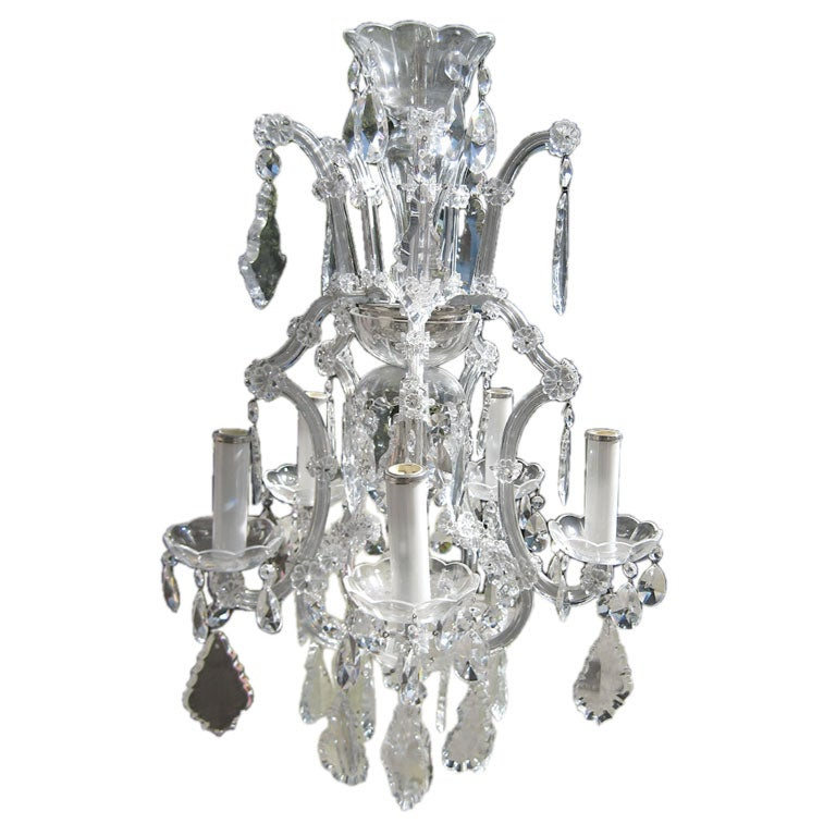 5 Arm Cut Crystal Marie Therese At 1stdibs