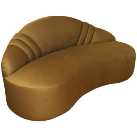 doris duke moderne scalloped sofa at 1stdibs. Black Bedroom Furniture Sets. Home Design Ideas