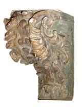 Pair Louis XIV  Wooden Brackets