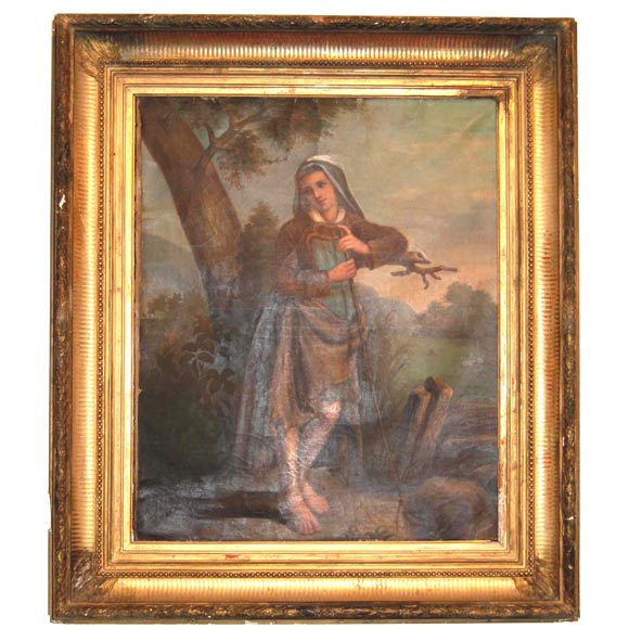19th c. Oil Painting For Sale