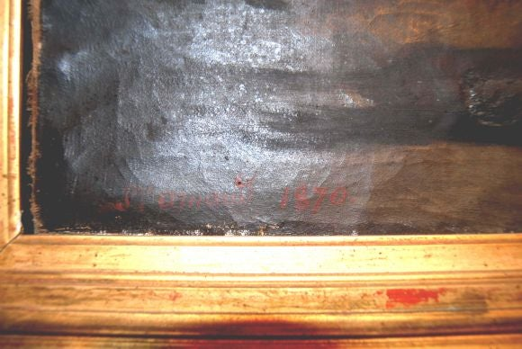 19th c. Oil Painting For Sale 1