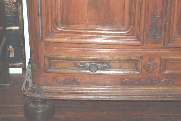 Exceptional 18th century Walnut Lyonnaise Armoire 3