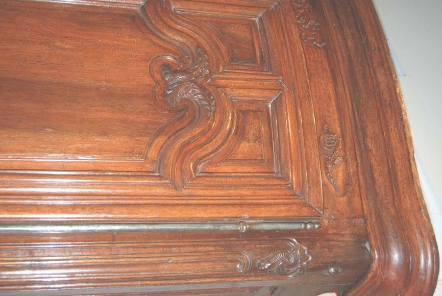 Exceptional 18th century Walnut Lyonnaise Armoire 8
