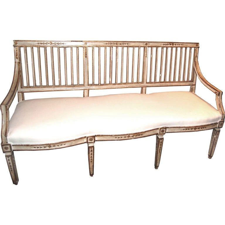 19th c painted parcal gilt italian canape at 1stdibs. Black Bedroom Furniture Sets. Home Design Ideas