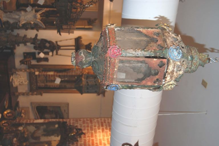 Lovely Decorated Tole lantern
