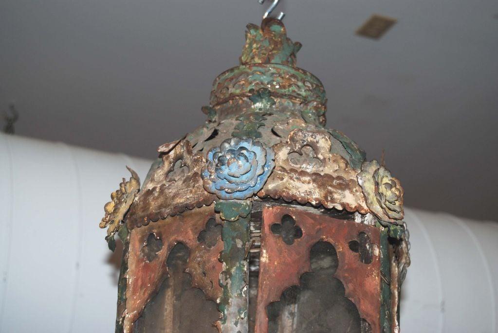 Tôle 18th c. Italian Tole Lantern For Sale