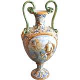 19th c. Italian Majolica Urn