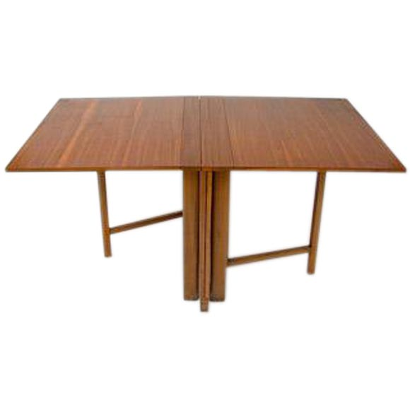 Maria Drop-Leaf Teak Dining Table by Bruno Mathsson