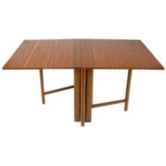 Maria Drop-Leaf Teak Dining Table by Bruno Mathsson