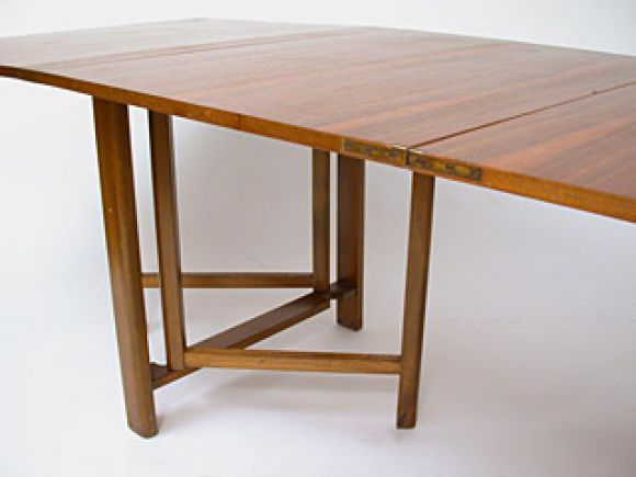 Mid-20th Century Maria Drop-Leaf Teak Dining Table by Bruno Mathsson For Sale
