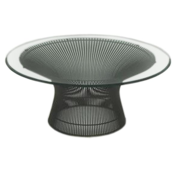 Wire Table Base | Early Warren Platner Wire And Glass Coffee Table By Knoll For Sale