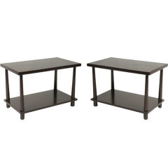 Ebony End Tables by T.H. Robsjohn Gibbings for Widdicomb