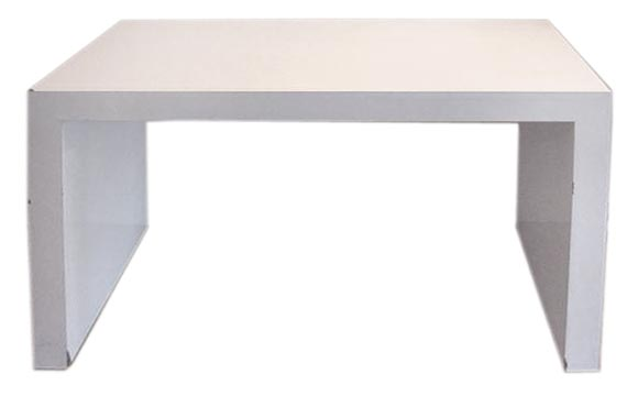 Custom David Hicks Style White Parsons Desk / Console Table 1