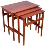 Hans Wegner Set of Three Nesting Side Tables for Andreas Tuck