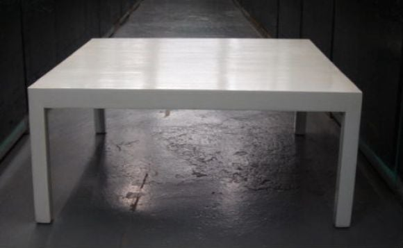 White Parsons Coffee Table By Robsjohn Gibbings For Widdicomb At 1stdibs