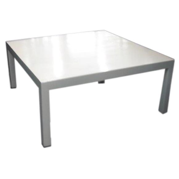 White Parsons Coffee Table