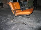 1970s Kjaerholm style Chrome and Cognac Leather Arm Chair