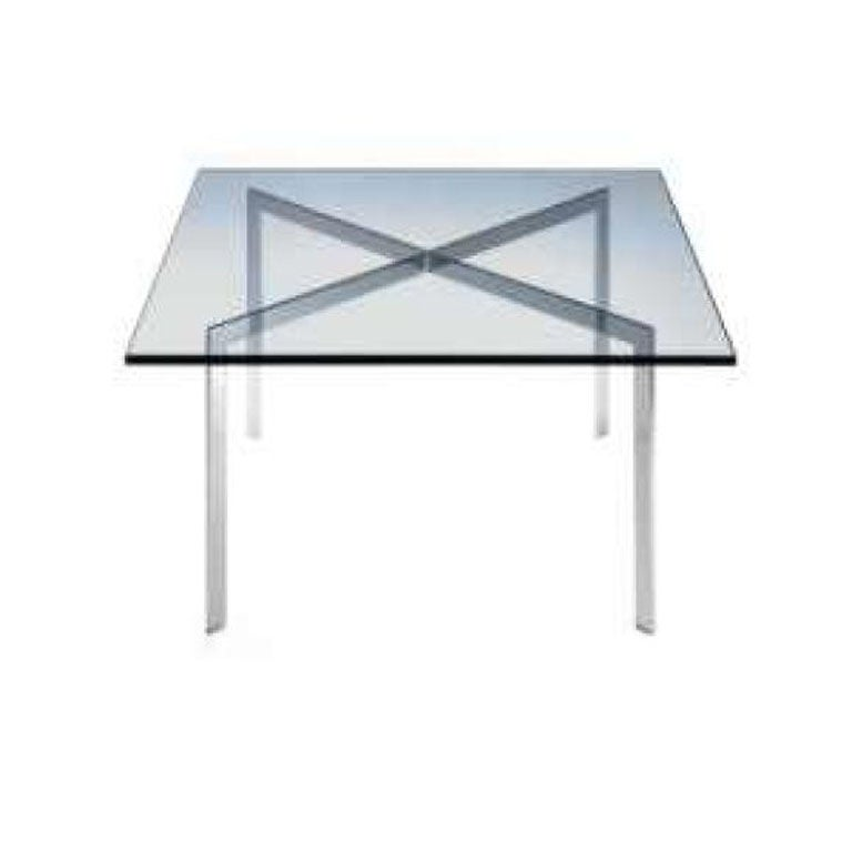 Vintage barcelona coffee table by mies van der rohe for knoll at 1stdibs - Barcelona table knoll ...