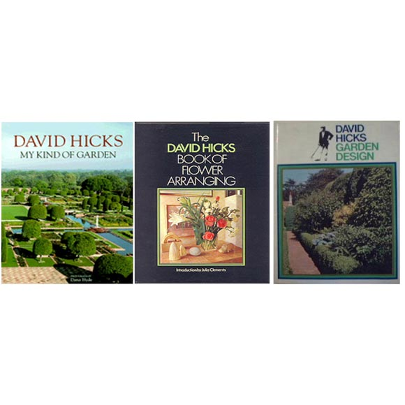 DAVID HICKS Set of 1st Edition Garden & Flower Arranging Books