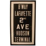 Vintage Framed New York City Subway Sign - Medium Size
