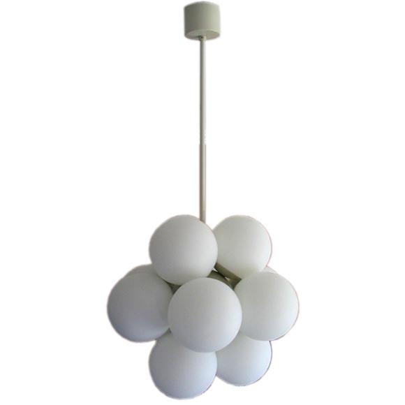 vintage globe hanging lighting fixture by kaiser leuchten at 1stdibs. Black Bedroom Furniture Sets. Home Design Ideas