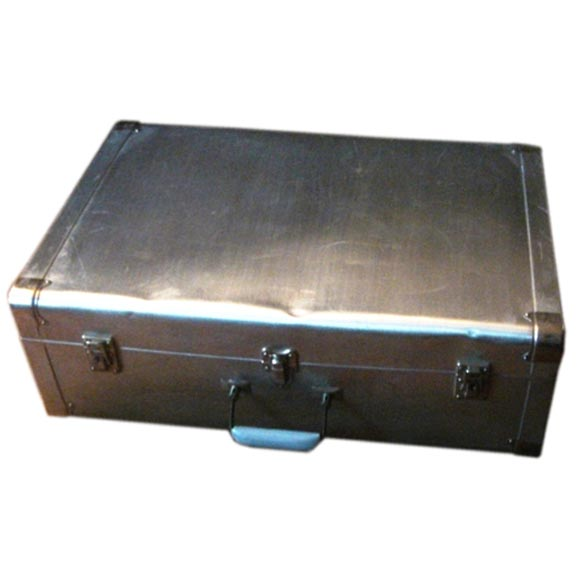 Vintage Aluminum Suitcase by Cheney England Circa 1930 at 1stdibs