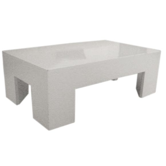 Custom Parsons Style White Table For Sale At 1stdibs
