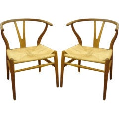 Pair of Vintage Wishbone Chairs by Hans Wegner