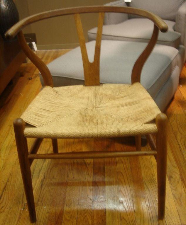 pair of vintage wishbone chairs by hans wegner at 1stdibs