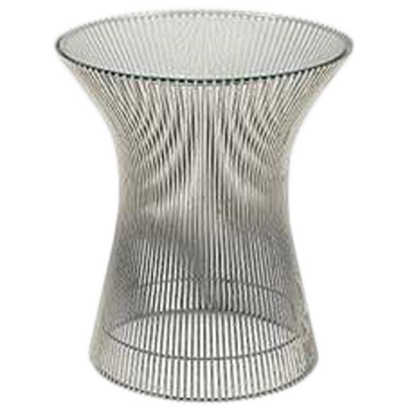 Vintage warren platner for knoll wire and glass side table for Table warren platner
