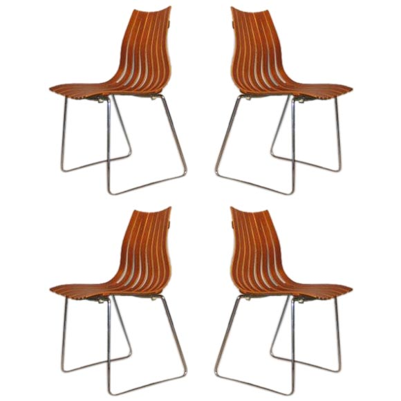 Four Hans Brattrud Scandia Junior Stacking Chairs At 1stdibs
