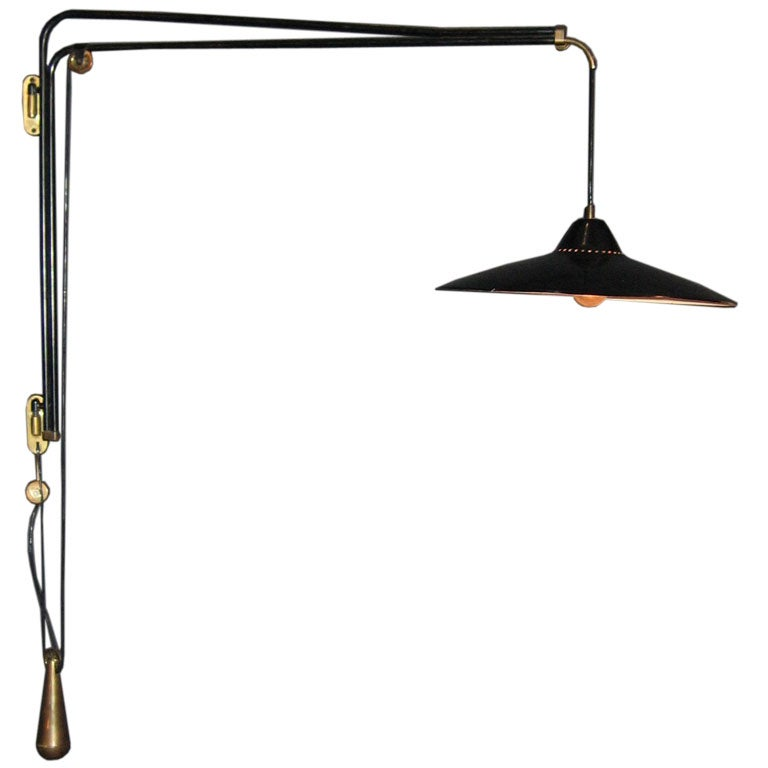 Wall Bracket For Light : Wall Bracket Lamp, by Franco Buzzi for O-Luce at 1stdibs