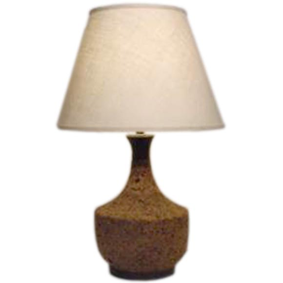 Cork lamp with custom shade at 1stdibs for Wine cork lampshade