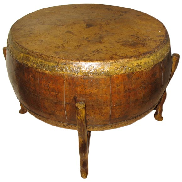 Chinese Drum Coffee Table: Chinese Drum On Stand At 1stdibs