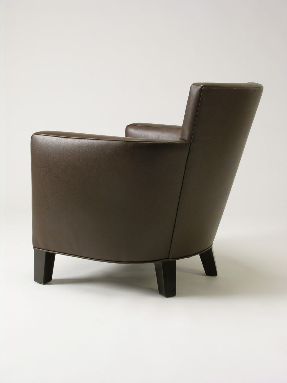 Christian Liaigre leather Armchairs at 1stdibs