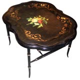 Antique English Papier-Mâché Tray Table