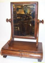 Victorian Swing Mirror With Bow Front Drawers