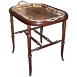 Antique Silver Plated Tray on Stand