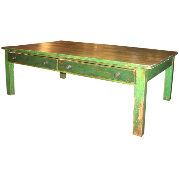 Antique Green Coffee Table At 1stdibs