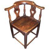 Antique Period Oak Corner Chair