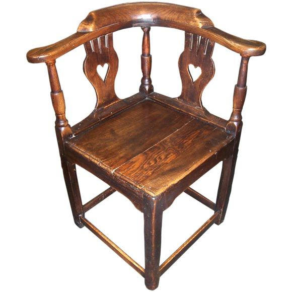 antique period oak corner chair at 1stdibs