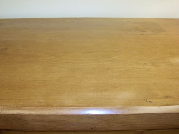 Antique Pine Chest of Drawers With Bun Feet 4