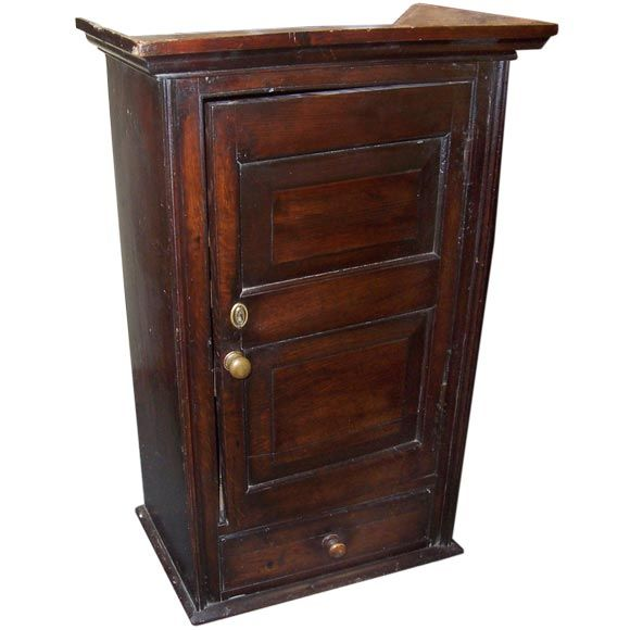 Early Large Hanging Oak Cupboard At 1stdibs