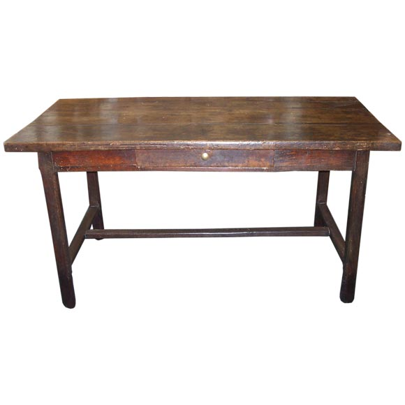 Farmhouse Kitchen Table With Drawers: Antique One Drawer French Farmhouse Table At 1stdibs