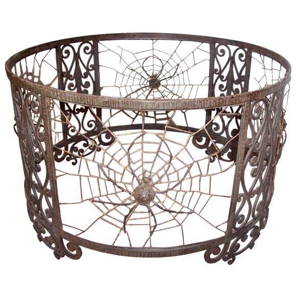 Decorative metal spider table base glass top at 1stdibs - Decorative metal table bases ...