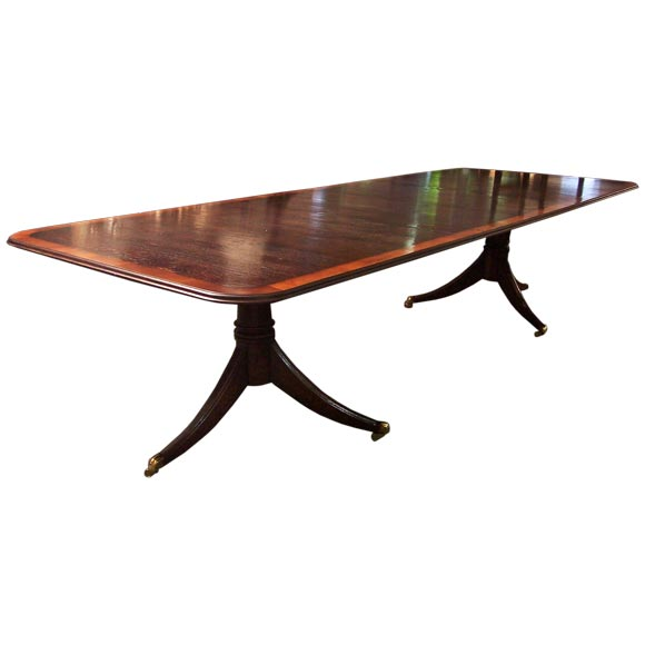 this antique reproduction dining table custom made in england is no