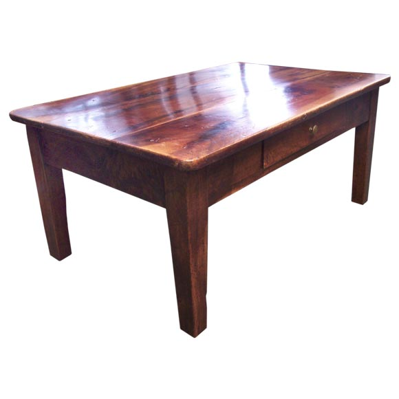 Antique French Fruitwood Coffee Table At 1stdibs