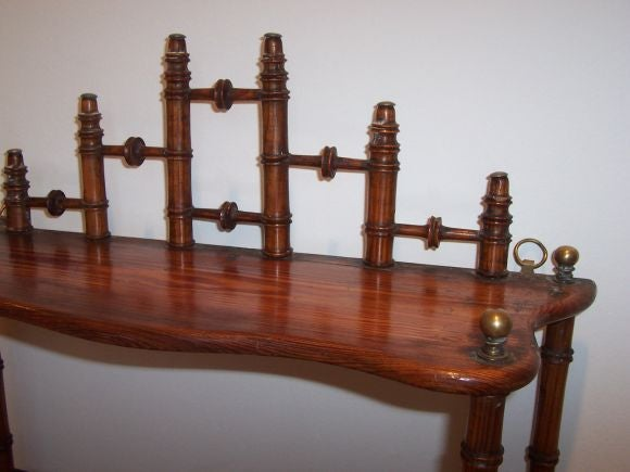 Antique Faux Bamboo Hanging Shelf At 1stdibs