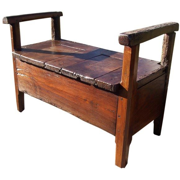 Small Antique French Bench At 1stdibs